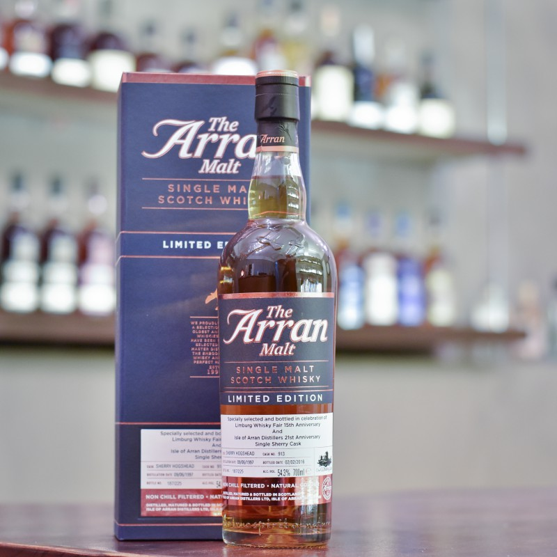 Arran 18 Year Old 1997 for Limburg Whisky Fair 15th Anniversary Cask 913