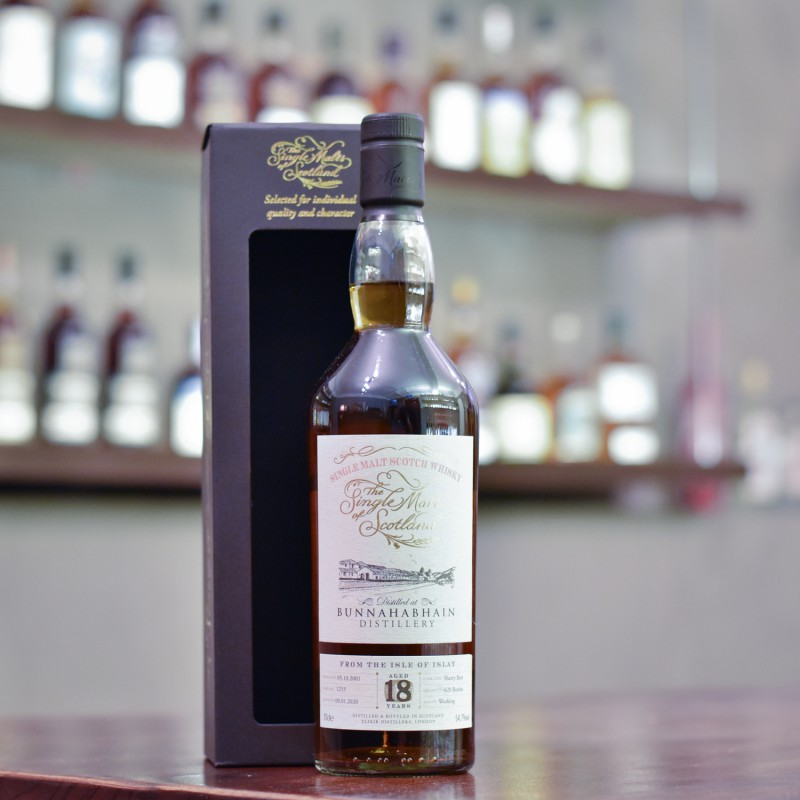 Single Malts of Scotland - Bunnahabhain 18 Year Old 2001 Sherry Cask 1253