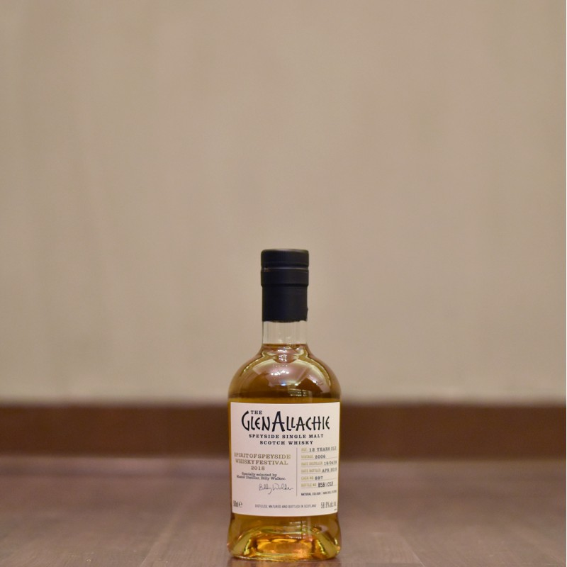 Glenallachie 12 Year Old 2006 Spirit of Speyside Whisky Festival 2018 Cask 897 (With Billy Walker's Signature)