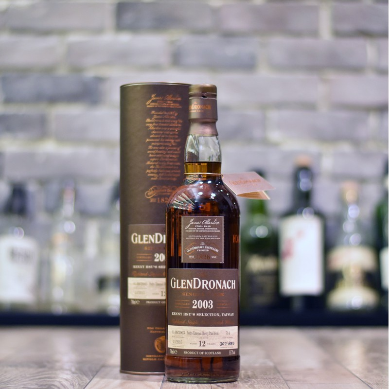 Glendronach 12 Year Old 2003 Kenny Hsu's Selection Cask 714
