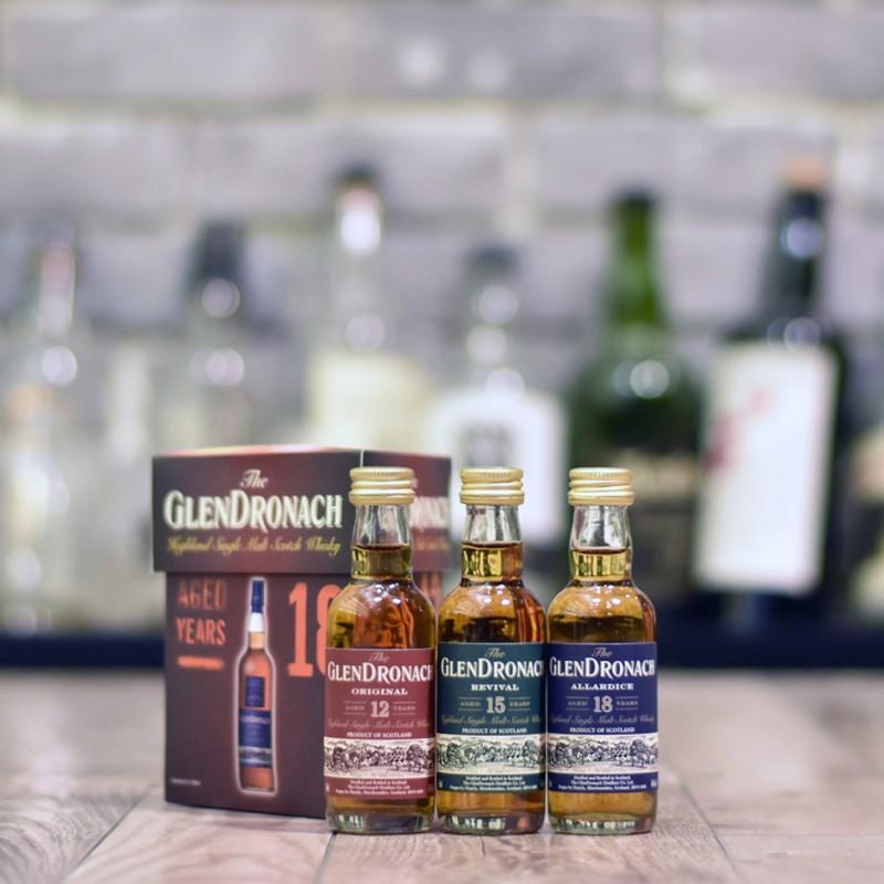 Glendronach Miniature Set