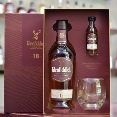 Glenfiddich 18 Year Old - Older Bottling Gift Set