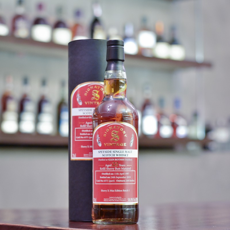 Signatory - Glenrothes 22 Year Old 1997 Sherry X-mas Edition Cask 6371