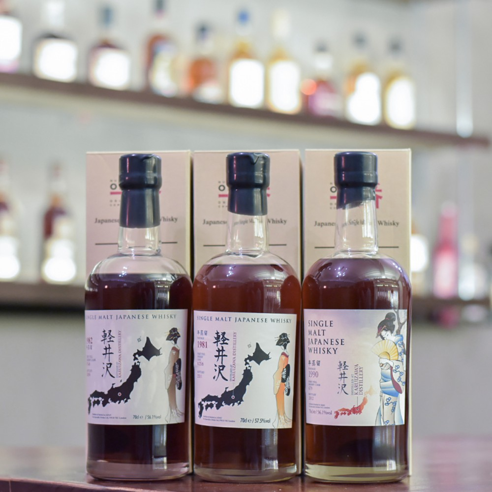 輕井澤 Karuizawa 1981 + 1982 + 1990 Geisha Single Cask Set
