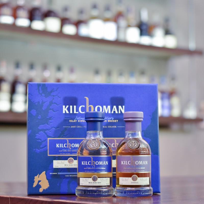 Kilchoman Machir Bay & Sanaig Gift Set