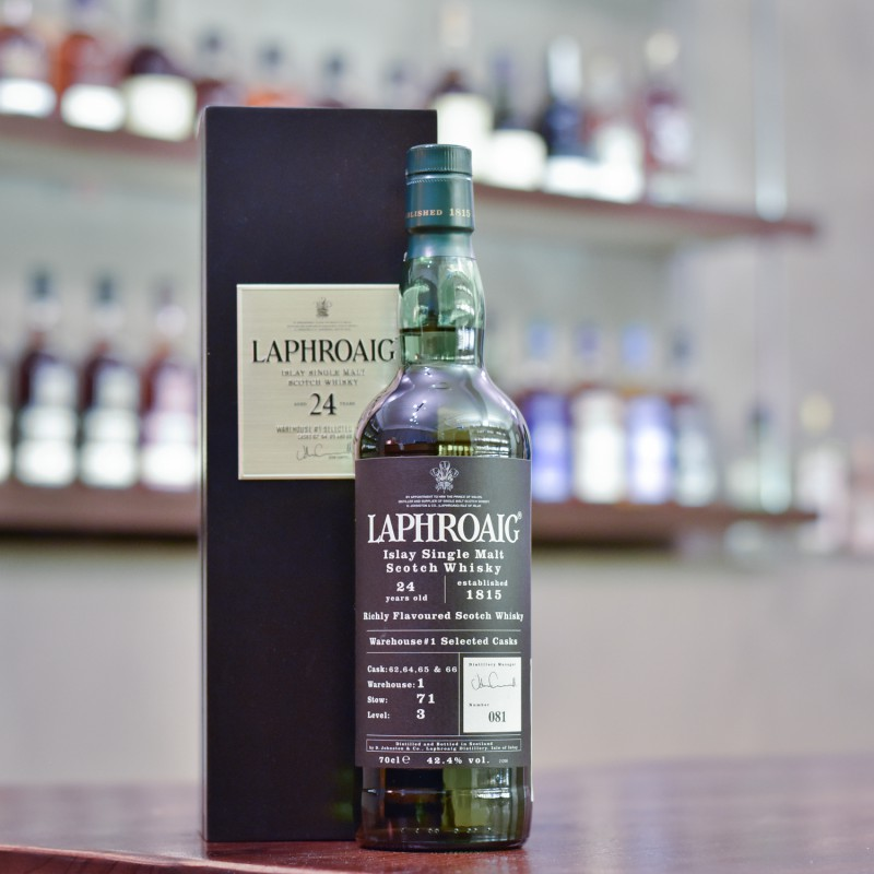 Laphroaig 24 Year Old Warehouse 1 Selected Casks 62, 64, 65 & 66