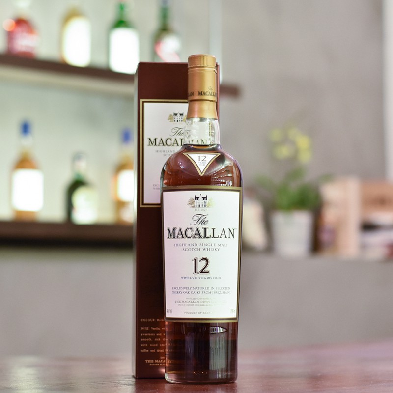 Macallan 12 Year Old Sherry Oak - Older Bottling