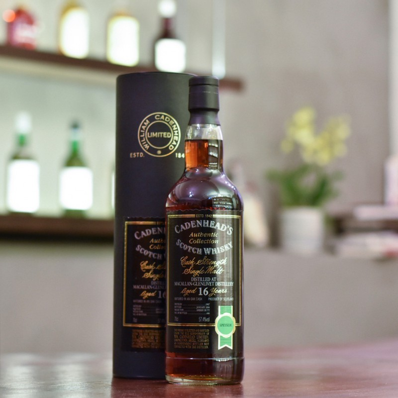 Cadenhead - Macallan 16 Year Old 1987 Authenic Collection Single Sherry Butt