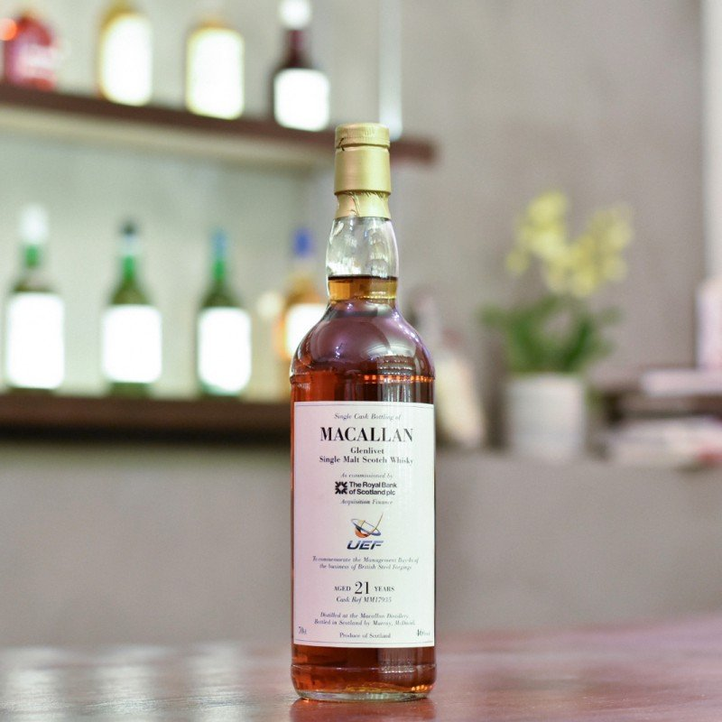Murray McDavid - Macallan 21 Year Old for RBS and UEF Cask MM17935