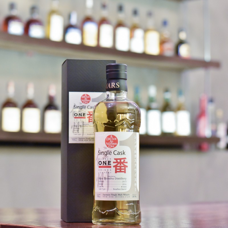 Mars Shinshu 3 Year Old 2013 for Number One Drinks Company Cask 1664
