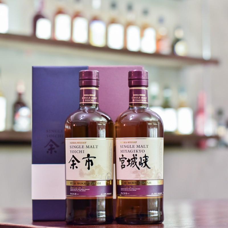 Yoichi & Miyagikyo Rum Wood Finish